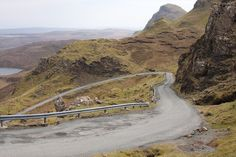 Scotland, road that crosses the Isle of Skye from Uig to Brogaig