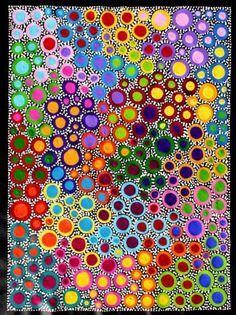 Risultati immagini per sally clark aboriginal art Aboriginal Dot Painting, Dot Art Painting, Aboriginal Patterns, Encaustic Painting, Rainbow Art, Rainbow Painting, Inspiration Art, Australian Art, Indigenous Art