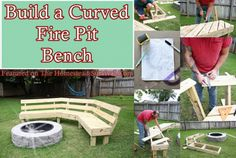 The Homestead Survival | Build A Curved Fire Pit Bench Project | http://thehomesteadsurvival.com Homesteading & DIY Project