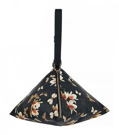 Givenchy Triangle Large Floral Butterfly Print Clutch