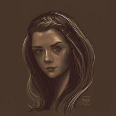 Fanart of Arya Stark from GOT  by mjodzjo