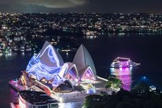 The city of Sydney has turned into a magnificent light installation Education In Australia, Festival Lights, Light Installation, Australia Travel, Wonderful Places, Travel Inspiration, Sydney, Places To Visit, World