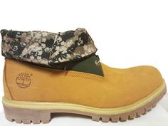 Timberland Roll Top Men's Boots,Brown,Wheat Camo #Timberland #AnkleBoots