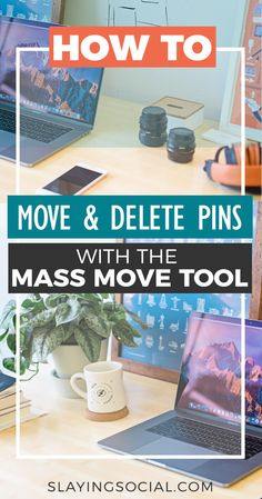How to Move or Delete Pins in Bulk with the Mass Move Tool - Slaying Social Social Media Tips, Social Media Marketing, Pinterest Tutorial, Delete Pin, Pinterest For Business, Make Money Blogging, Blogging Ideas, Blogging For Beginners, Pinterest Marketing