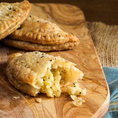Irish Cornish Pasties with a savory sweet potato filling! #yum #recipe