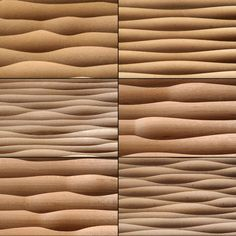 Wave panels by Georg Ackermann materials