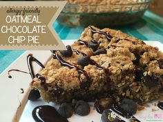 Chocolate Chip Oatmeal Pie (Take 2) Allergy-Friendly (No eggs, nuts ~ easy dairy and gluten free option) – Busy Bee Kate
