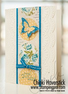 Tea for Two DSP, Delicate Designs TIEF, Large Scallop Edgelit, butterfly punches  stampingpro.com