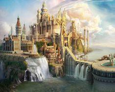 CG Fantasy Castle castle magic fantasy cg Fantasy castle Fantasy city Fantasy landscape