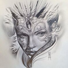 Pin by tattoos info on tattoos for women Tattoo Sketches, Tattoo Drawings, Body Art Tattoos, Drawing Sketches, Sleeve Tattoos, Art Drawings, Coloring Books, Coloring Pages, Catrina Tattoo