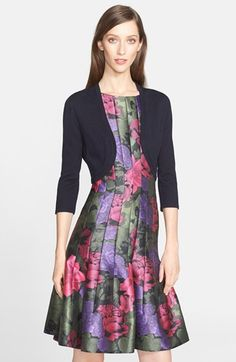 Oscar de la Renta Cashmere & Silk Bolero available at #Nordstrom