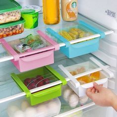 Refrigerator Bins #organizationideas #kitchenideas