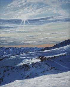 Limited Editions Prints are now available for the stunning 'Winter Light'.  This painting is a view from the top of Mt Hutt looking over the Southern Alps.  This price includes framing.  It will be stretched over wooden stretcher bars.  Print Size 400mm(H) x 300mm(W) x 40mm(D) Giclee varnished.   If you do not have a paypal account please contact me at art.mcgettigan@gmail.com for another payment method.  (Free shipping worldwide)  What is a Giclee Print? ... Nz Art, Winter Light, Limited Edition Prints, Alps, New Zealand, Giclee Print, Perspective, Around The Worlds, Stretcher Bars