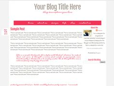 Roses Are Pink Free Blogger Template