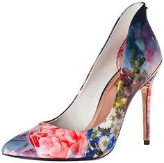 Ted Baker Women's Savenniers 2 Dress Pump, Focus Bouquet/Dark Blue, 9 M US *** Check out the image by visiting the link.