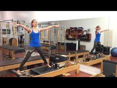 Side Splits Variations on the Reformer - Lesley Logan Pilates - YouTube