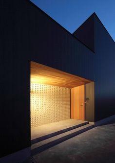 Glass Block Windows, Glass Blocks, Entrance Lighting, Entrance Doors, Shoji Doors, Reception Furniture, Facade Architecture, Minimalist Interior, Loft
