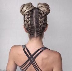 Braided Hairstyles for Long Hair hair tutorial video Pretty Braided Hairstyles, Cool Hairstyles, Braid Hairstyles, Hairstyle Ideas, Latest Hairstyles, Hairstyle Tutorials, Hairstyles For The Gym, Hairstyles Haircuts, Braided Updo