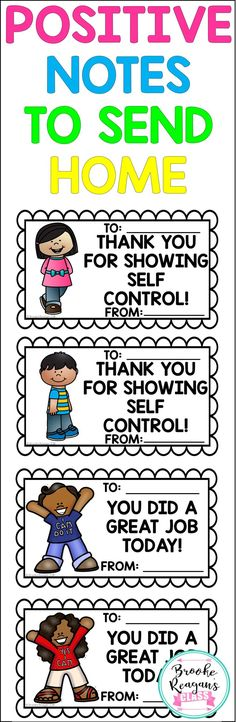 Positive behavior notes to send home. Reward your students for their good behavior by sending home these notes! Preschool Behavior, Classroom Behavior, Classroom Management, Behavior Management, Classroom Ideas, Classroom Discipline, Autism Classroom, Class Management, Preschool Ideas