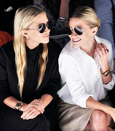 Mary-Kate and Ashley Olsen // Front row at J. Mendel S/S 12 (Click to see more of our favorite Fashion Week front row moments!)