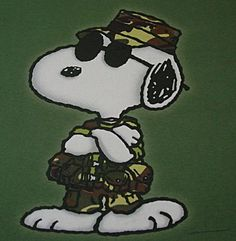 #Vintage #Snoopy #Camo Joe Cool. The Few, The Proud, The Cool! Like this? More GR8, Unique Stuff Here! http://myworld.ebay.com/lotstasell/