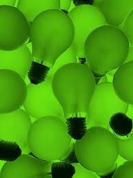 Light Bulbs: incandescent lightbulbs thanks to an inventor from the USA. Green Life, Green Day, Go Green, Green Colors, World Of Color, Color Of Life, Mean Green, Green Photo, Green Wallpaper