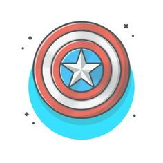 Captain America Shield Cartoon Cute illustration, Best design top artwork inspiration, Trending graphic by Catalystivbes Shield Drawing, Human Drawing, Cute Illustration, Character Illustration, Captain America Sheild, Graphic Design Inspiration, Kids Christmas, Cute Drawings, Art Sketches