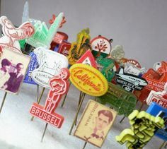 vintage advertising pins from cOveTableCuriOsitIEs on etsy