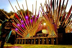 Bamboo Art, Bamboo Crafts, Bamboo Structure, Shade Structure, Bühnen Design, Event Design, Outdoor Stage, Stage Set Design, Bamboo Architecture