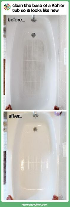 How to Clean Kohler Tub. Tutorial via