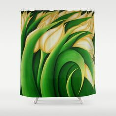 #Stylized #Yellow #Tulips #ShowerCurtain #bathroom #homedecor #floral #decor #bathroomdecor #interiordesign https://society6.com/product/yellow-tulips-qrr_shower-curtain#s6-3206583p34a35v287