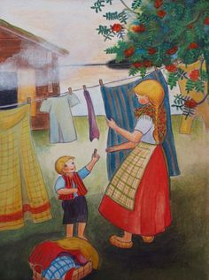 Hanging laundry-simple joy of taking care of yourself -cook yourself a nice meal - wash your clothes..... Lovely