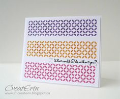 Colour blocking by cards4meagain - Cards and Paper Crafts at Splitcoaststampers