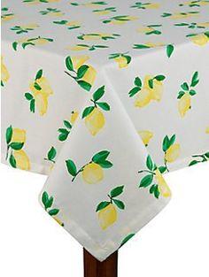 Make Lemonade Tablecloth By Kate Spade New York