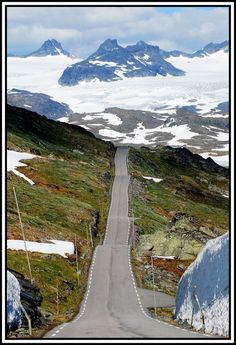 Icefield road, Skjolden to Lom, Jotunheimen National park. Norway (on the way to where my grandpa was born) Jotunheimen National Park, Places Around The World, Around The Worlds, Beautiful Norway, Norway Travel, Lofoten, Roadtrip, Oslo, Places To See