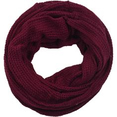 LA77 Honeycomb Knit Infinity Scarf ($22) ❤ liked on Polyvore featuring accessories, scarves, red, honey comb, knit scarves, red circle scarf, circle scarves and infinity scarves