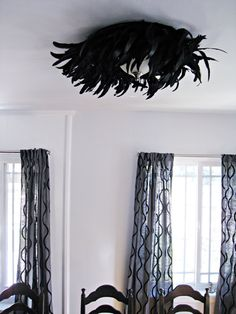 Glam up your light fixture for an Oscap Party, a la blogger ...love Maegan