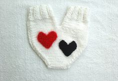 Couples glove Lovers mitten for him and her by KnitterPrincess, $28.00