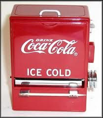 Coke dispensers...I remember the pop machines that had bottles submerged in water.   Looooong time ago