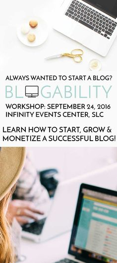 Blogability helped me streamline the process of turning my little food blog into what is now my full-time business! They're knowledge of every detail from how to set up my blog (design, ads, etc.), how to social network, and how to connect with brands and build my own brand have been just a few of the key things that skyrocketed my hobby into a business. Go to their workshop in SLC on September 24, you will not regret it!!! Printable Activities For Kids, Holiday Activities, Social Media Site, Slc, Blog Design, Family Kids, Photo Tips, How To Start A Blog, Diy Tutorial