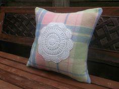 Wool Blanket Cushion Cover. | Felt
