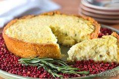 Receita de Torta de bacalhau diferente em receitas de tortas salgadas, veja essa e outras receitas aqui!
