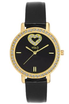 YOLO Women's Black Dial Analog Wrist Watch with Black Leather Strap Is A Unique And Innovative Product In The Wrist Watches Market. This Amazing, Stylish Fashion Watch Has Arrived To Complement Your Look And Attitude.