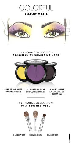 COLORFUL: Yellow Matte HOW TO. #sephora #sephoracollection #eyeshadow