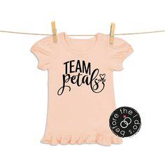 Items similar to Team Petals Tee for Little Girls /// Flower Shirt, Petal Shirt, Wedding Shirt First Names, Little Girls, Weddings, Bride, Flower, Trending Outfits, Tees, Clothes, Women