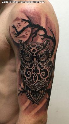 Tatuaje hecho por Sebastián, de Lleida (España). Si quieres ponerte en contacto con él para un tatuaje o ver más trabajos suyos visita su perfil: http://www.zonatattoos.com/sebastian2711    Si quieres ver más tatuajes de búhos visita este otro enlace: http://www.zonatattoos.com/tatuaje.php?tatuaje=104018