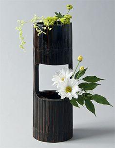 Ziji - Bamboo Section Vase, $74.50 (http://www.ziji.com/products/ikebana-flower-arranging/ikebana-vases/bamboo-section-vase/)