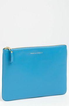 Comme des Garcons 'Large' Classic Pouch Blue