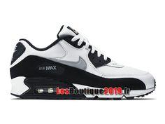 bb79fa550ec7 Nike Air Max 90 Essential Chaussures Nike Sportswear Pas Cher Pour Homme  Noir Blanc 537384-