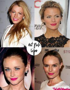 hot pink lips 2